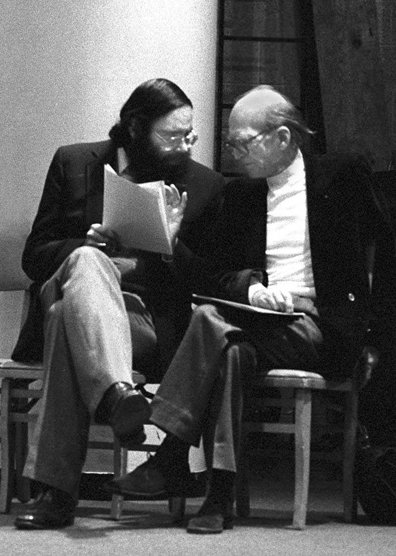 Davíd Carrasco with Mircea Eliade